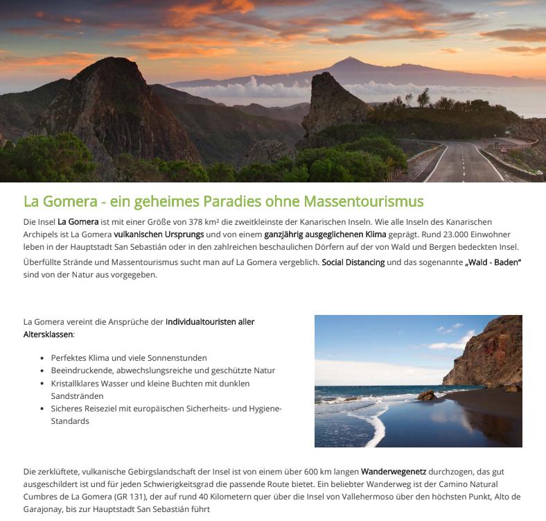 Más de mil agentes de viajes alemanes concluyen una formación online sobre La Gomera