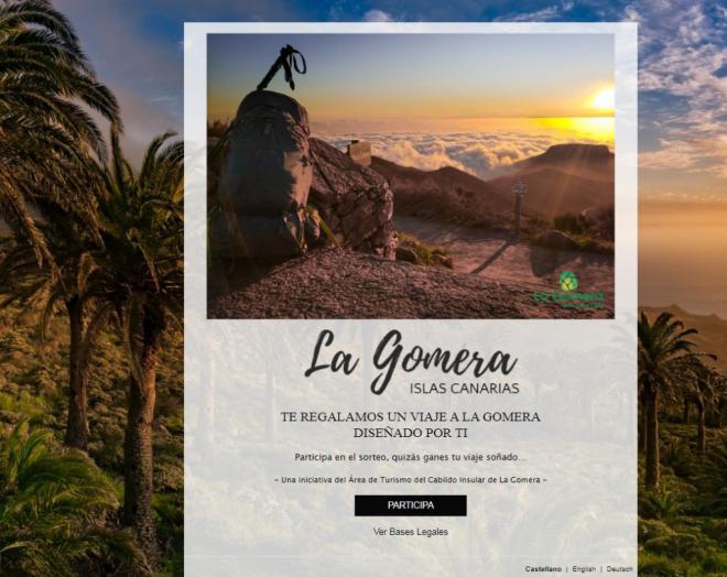 La Gomera sortea viajes a la isla en una nueva acción promocional en sus principales mercados