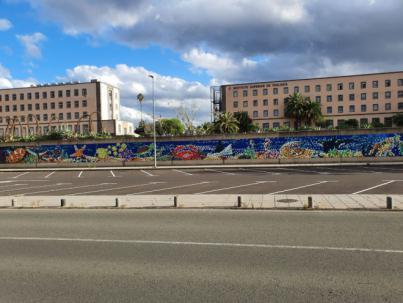 La ULPGC establece un récord mundial con Pixel Art, el mural más grande elaborado con material de escritura reciclado