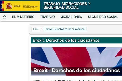 Abre un espacio web con información a la ciudadanía sobre el Brexit