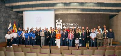 El 1-1-2 Canarias distingue en su XX aniversario a los servicios de emergencia del Archipiélago