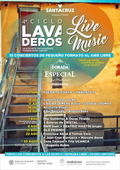 La cuarta edición del 'Lavaderos Live Music' arrancará en junio y contempla diez recitales