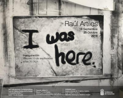Raúl Artiles, uno de los jóvenes talentos del arte en Canarias, inaugura en la SAC 'I was here'