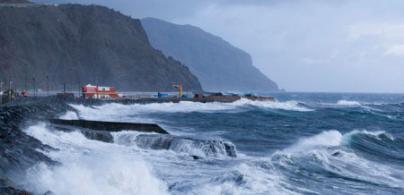 Canarias, en aviso amarillo por vientos de 70 km/h y olas de 2 metros
