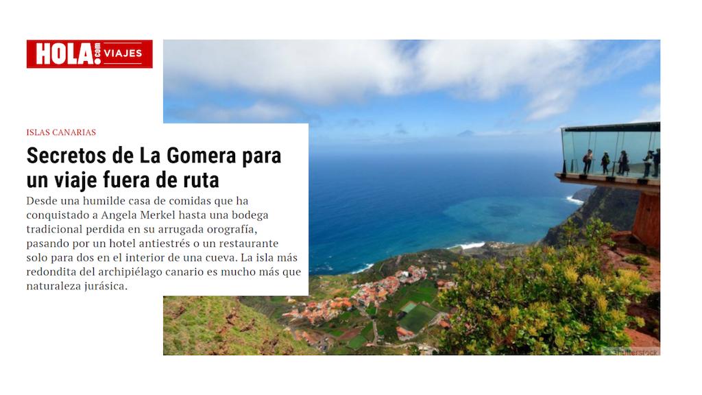 La revista ¡Hola! muestra los secretos de La Gomera como destino turístico