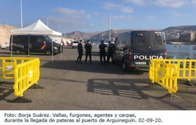 RSF acusa al Gobierno de dificultar la labor de los periodistas en la llegada de pateras a Canarias