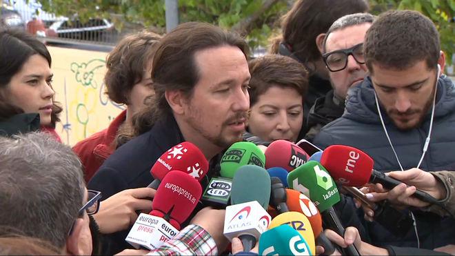 Pablo Iglesias tras votar: 'Vamos a tender la mano al PSOE'