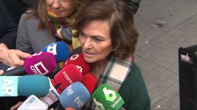 Calvo defiende abordar la crisis en Cataluña 'con política'