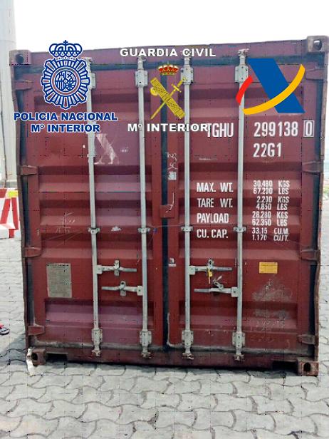 Aprehendidos 190 kilos de cocaína en África en dos contenedores procedentes del puerto de Gran Canaria