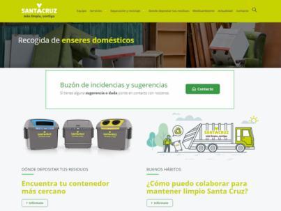 Santa Cruz estrena un nuevo buscador para localizar el contenedor más cercano