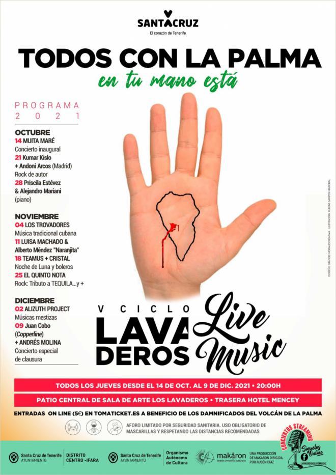 """El Ayuntamiento de Santa Cruz retoma los conciertos """"Lavaderos Live Music"""""""