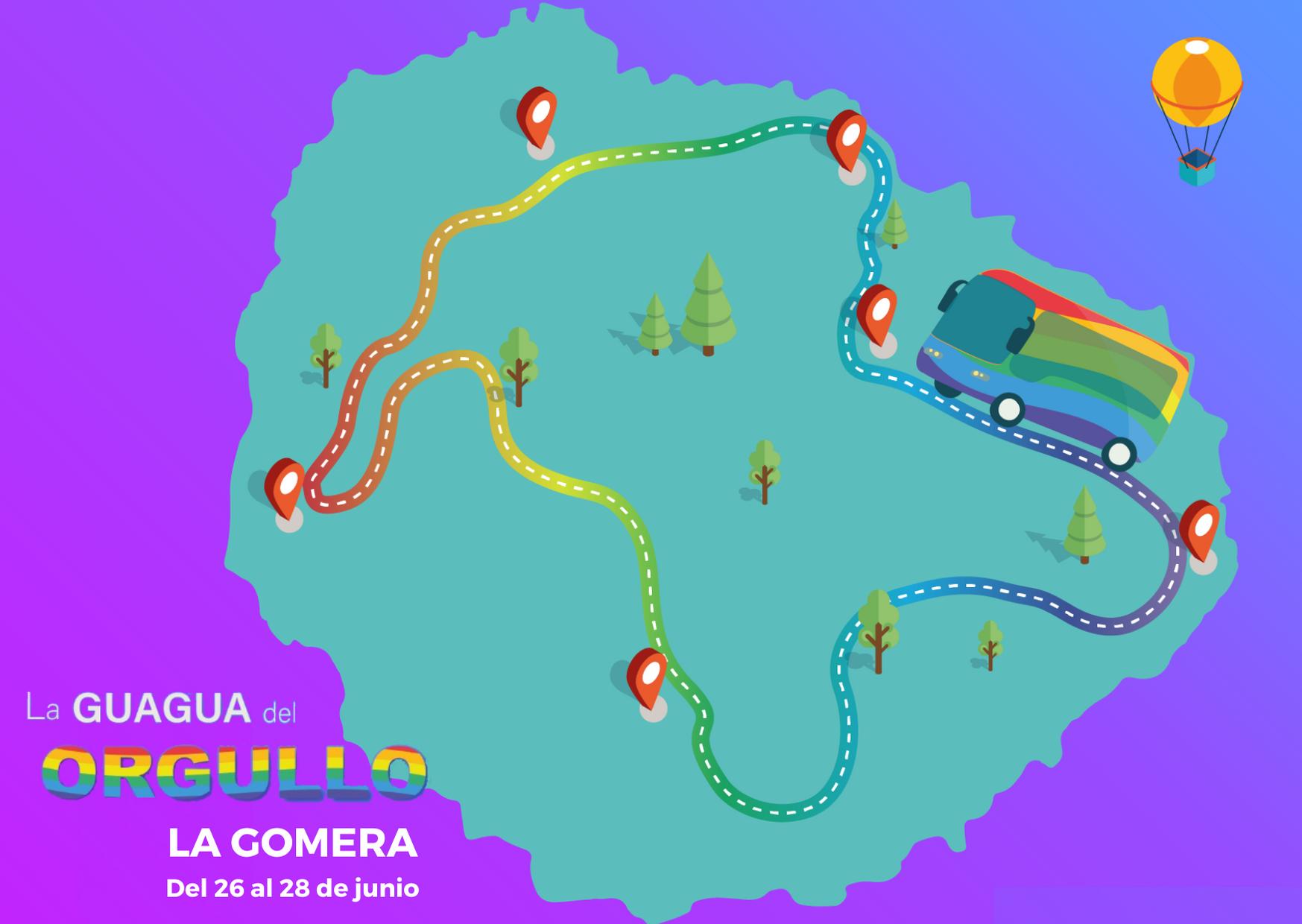 """El Cabildo promueve el primer Orgullo LGBTIQ+ de la isla de La Gomera con """"La Guagua del Orgullo"""""""