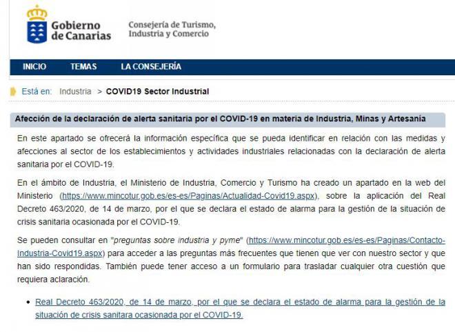 Industria informa al sector sobre cómo afecta a su actividad la declaración del estado de alarma por el COVID-19