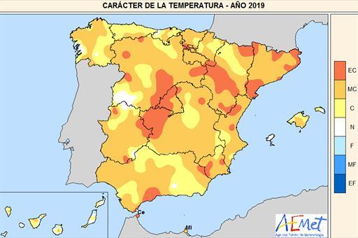 2019, un año muy cálido y normal en precipitación
