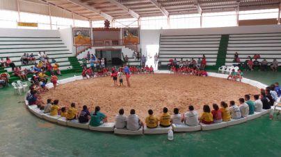 Unos 130 niños en la II Concentración de Lucha Canaria