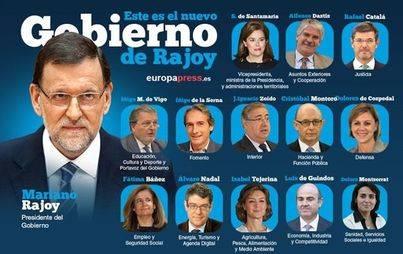 Rajoy nombra a su Consejo de Ministros