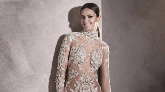 Cristina Pedroche con el vestido que lució el año pasado