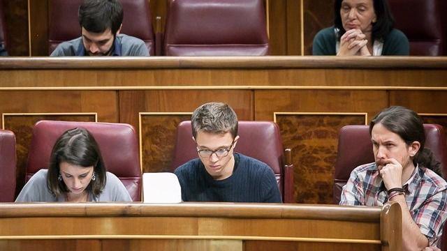 Imagen de archivo de Iglesias y Errejón en el Congreso