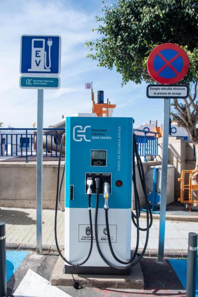 """Primer punto de recarga """"ultrarrápido"""" para vehículos eléctricos de la Isla"""