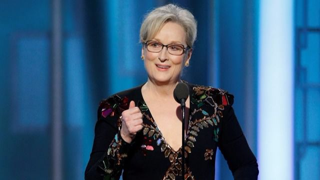Meryl Streep carga contra Trump en su discurso
