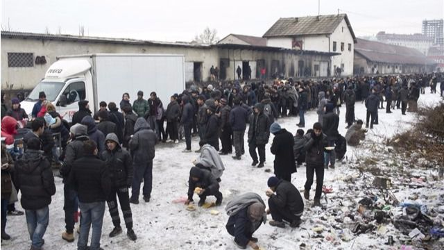 Registrados casos de congelación entre los refugiados de Belgrado