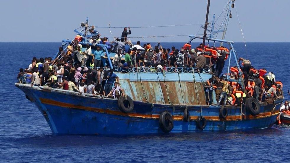 Un rescate a migrantes producido en el Mediterráneo