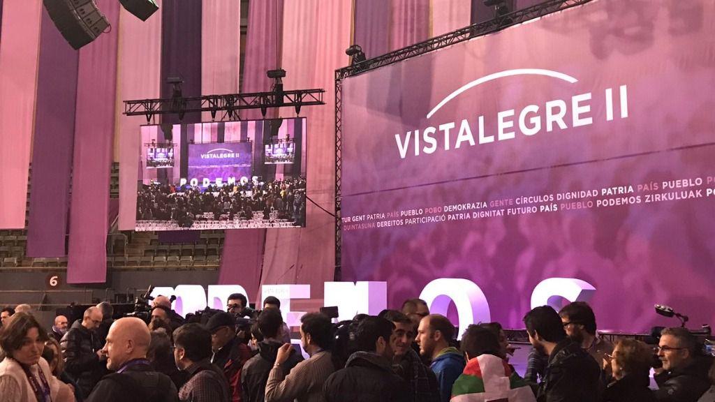La asamblea de Vistalegre II, poco antes de su comienzo