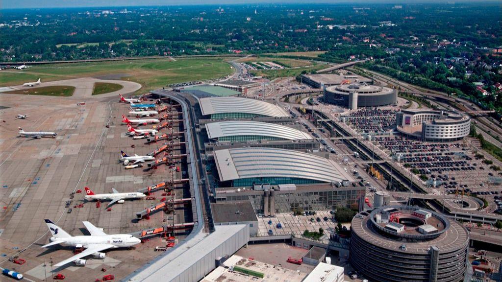 El aeropuerto de Hamburgo, situado en Alemania