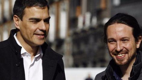 Pedro Sánchez propone una alianza con Podemos, IU y los sindicatos