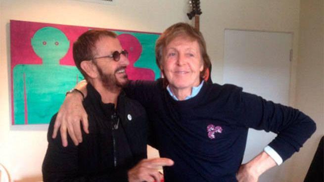 Paul McCartney y Ringo Starr, juntos de nuevo