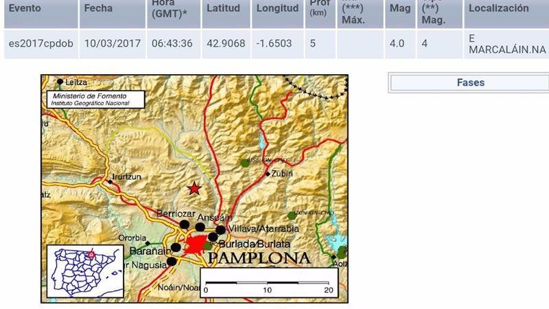 Terremoto en Pamplona