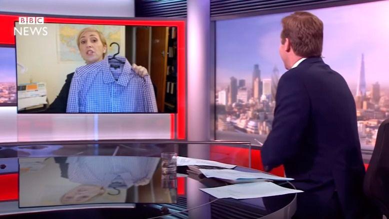 Así habría sido el directo de la BBC si el analista hubiese sido mujer