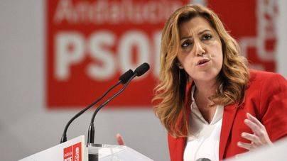 Susana Díaz ha estado arropada por los líderes históricos del PSOE y los presidentes socialista de comunidad