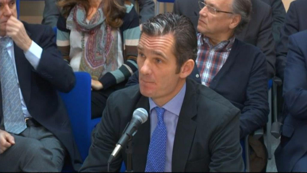 Urdangarin, durante el juicio en Palma