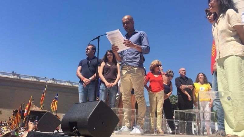 Guardiola ha sido el encargado de leer el manifiesto