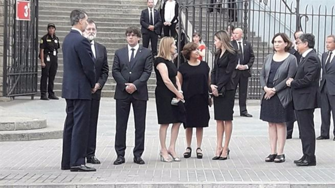 Funeral en Barcelona en memoria de las víctimas