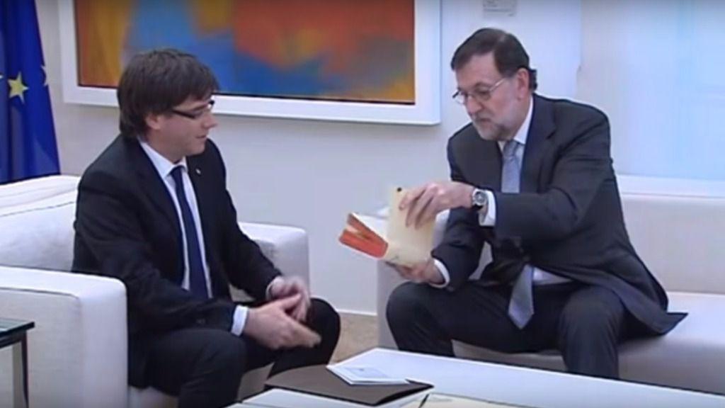 Puigdemont y Rajoy en una imagen de archivo en La Moncloa