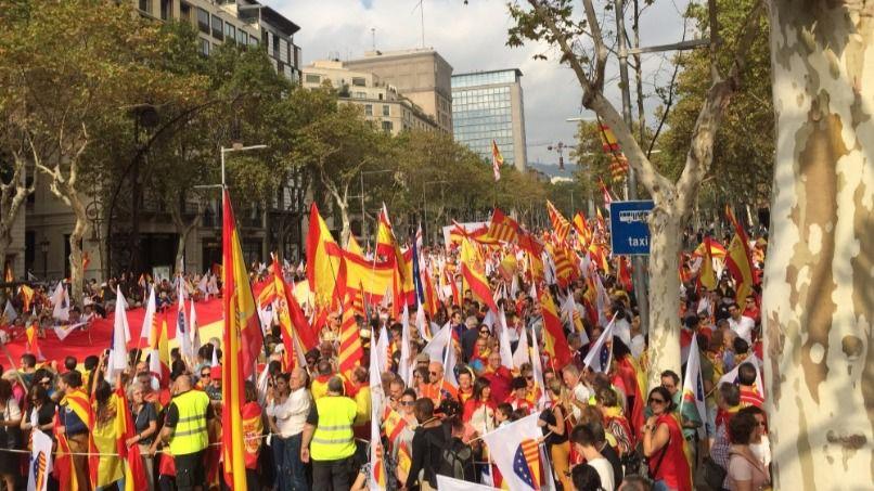Barcelona vuelve a la calle para decir no a la independencia