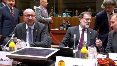 Líderes de la UE apoyan a Rajoy ante el desafío secesionista