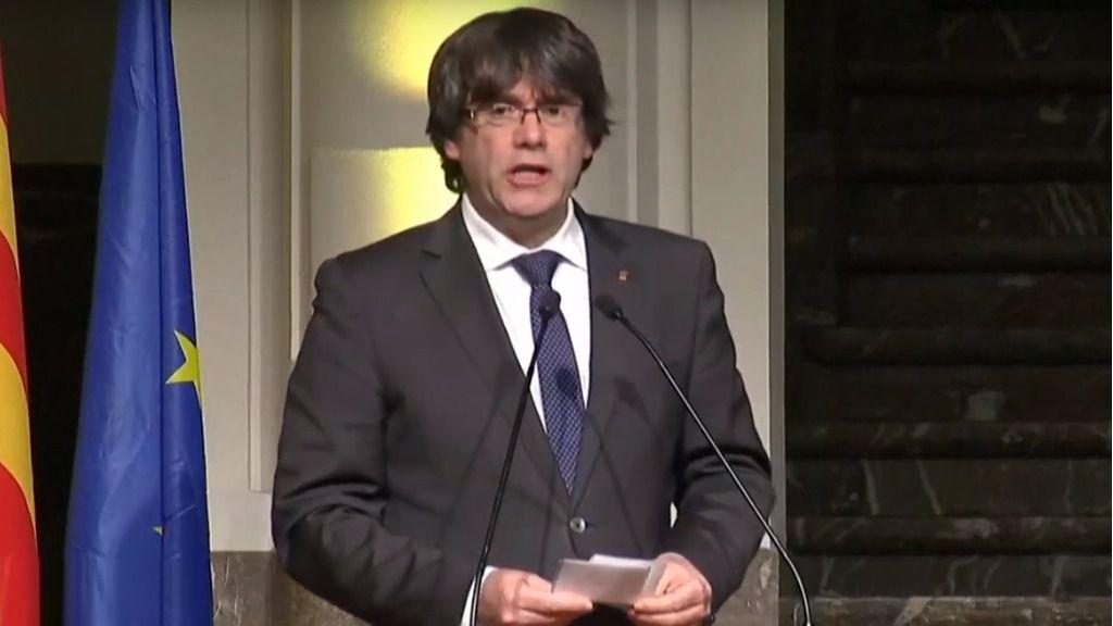 """Puigdemont carga contra una """"España que debe responder por sus abusos"""""""