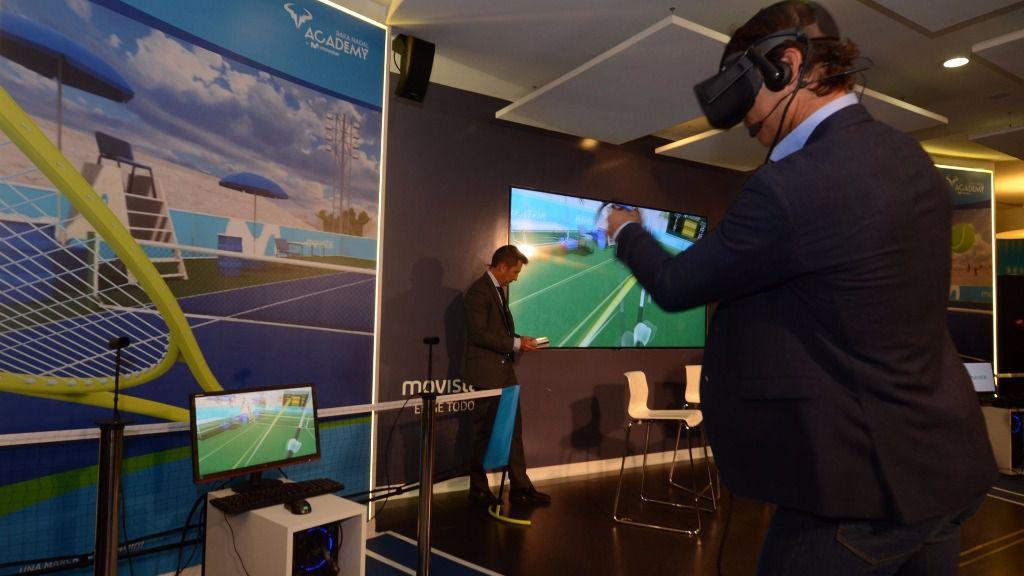 Rafa Nadal, protagonista en un juego pionero de realidad virtual