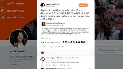 Cuatro meses de cárcel para la mujer que deseó una violación múltiple a Inés Arrimadas