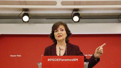 Carmen Calvo, ministra de Igualdad y vicepresidenta del Gobierno