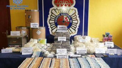 Intervienen 65 kilos de speed y 32 de cocaína con destino a los Sanfermines