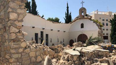 El techo de una iglesia de Alicante se derrumba al acabar una misa