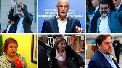 Los independentistas presos viajan ya rumbo a cárceles catalanas