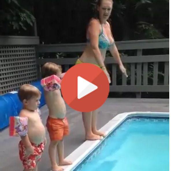 Vean el vídeo del pequeñín que se tira a la piscina con estilo, tabla, pero estilo