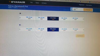 Problemas en la web de Ryanair imposibilitan la aplicación del 75 por ciento de descuento