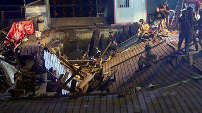 Más de 300 heridos tras el desplome de una pasarela en Vigo durante un concierto