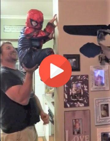 Este niño es un fenómeno de Marvel, el mejor Spiderman visto en años